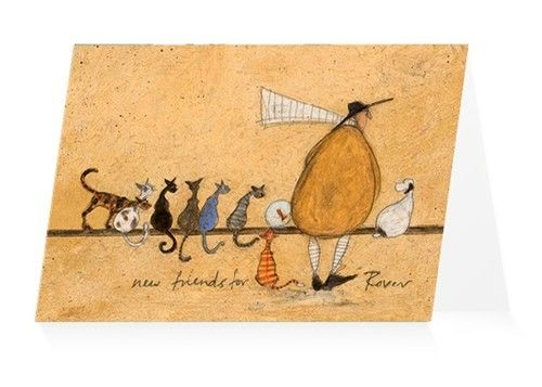 Sam toft new friends for rover greeting card cats pinterest sam toft new friends for rover greeting card m4hsunfo