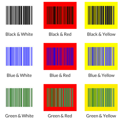 Best and Worst Colors for Barcode Labels | #barcode #labeling