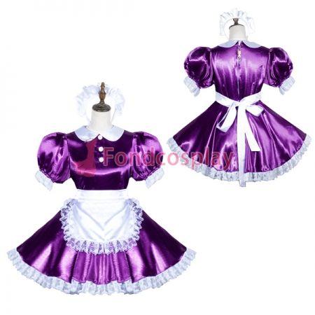 5d4e42ccb US$ 119.91 - Lockable Sissy Maid Satin Dress Unisex CD/TV Tailor-Made