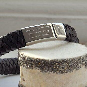 Men S Engraved Message Bracelet Message Bracelet Bracelets For Men Mens Gifts