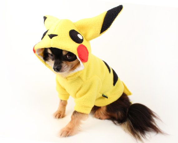 Dog Costume Pikachu Dog Costume Halloween Pokemon Dog Hoodie In