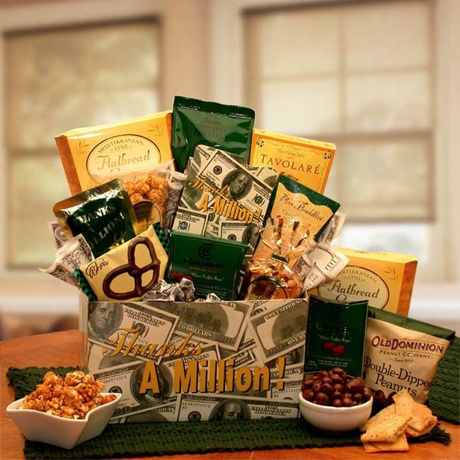 Thank You Corporate Lawyer Doctor Boss Ceo Office Gift Basket With Elegant Treats Thankyou