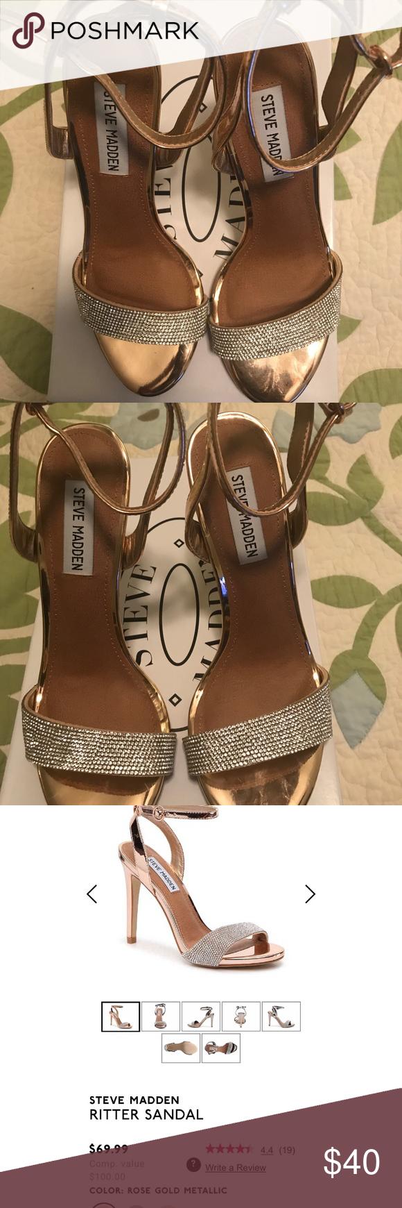 f2617885b1f ️Steve Madden Rose Gold Sandal‼ Steve Madden Ritter Sandal - Rose Gold-