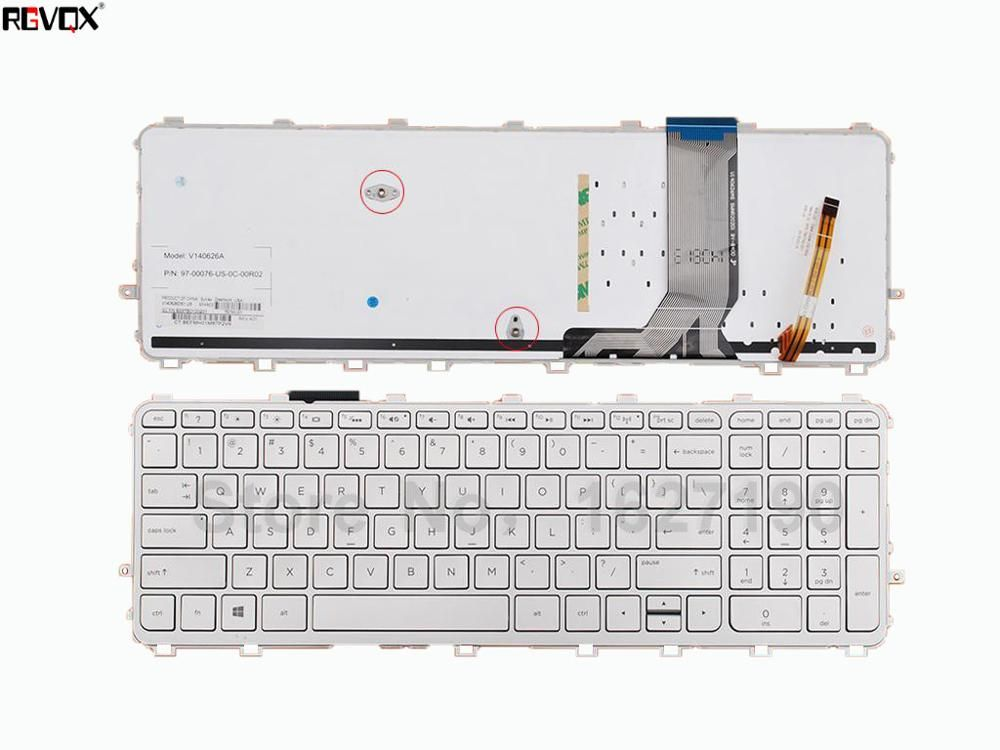 New US Laptop Keyboard For HP ENVY 15-j Series SILVER FRAME SILVER ...