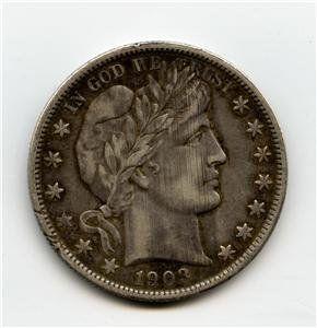 1903-S US Barber Silver Half Dollar Coin EF+ details $198.22 on GoAntiques