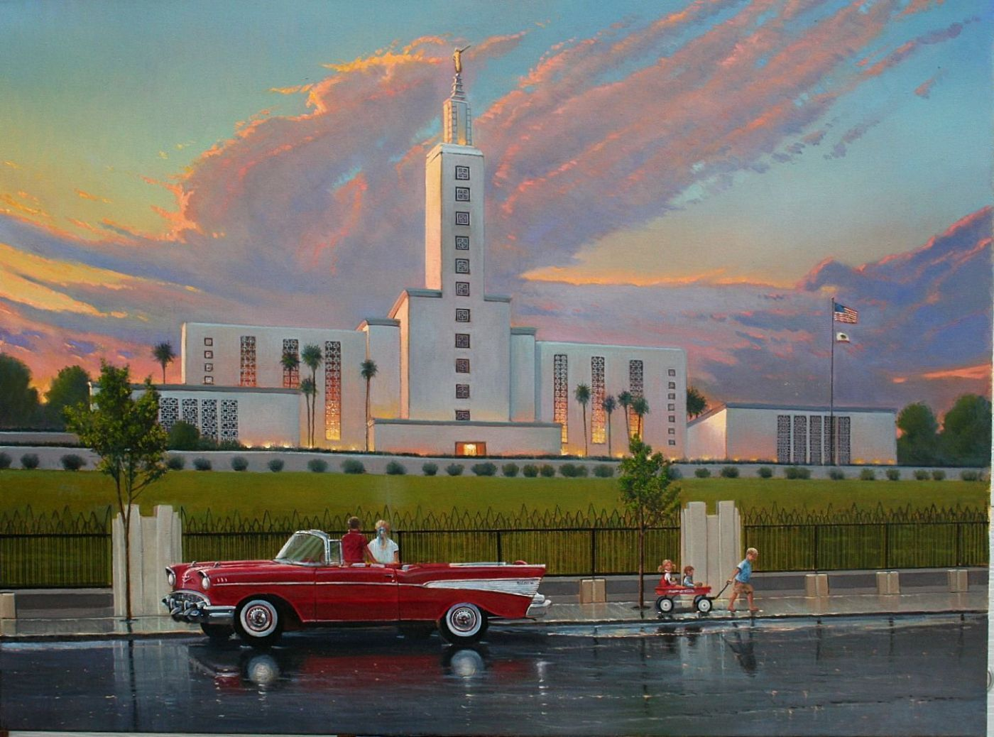 Los Angeles California Temple Lds D Lyon Art Lds Temples Los Angeles Temple Lds