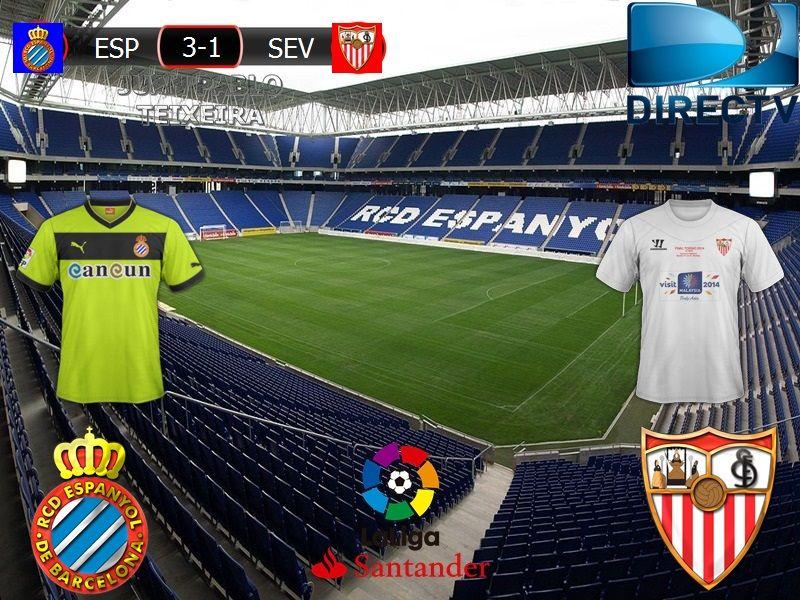 Liga Santander 2016/17 20º Fecha: Espanyol 3-1 Sevilla