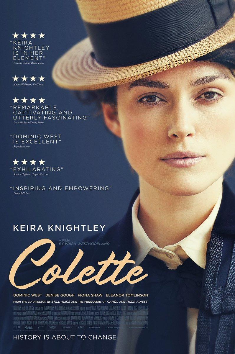 Colette 2018 Film Key Art Poster Poster Posterdesign Typography Artdirection Design Graphicdesign Period Drama Movies Keira Knightley Drama Movies