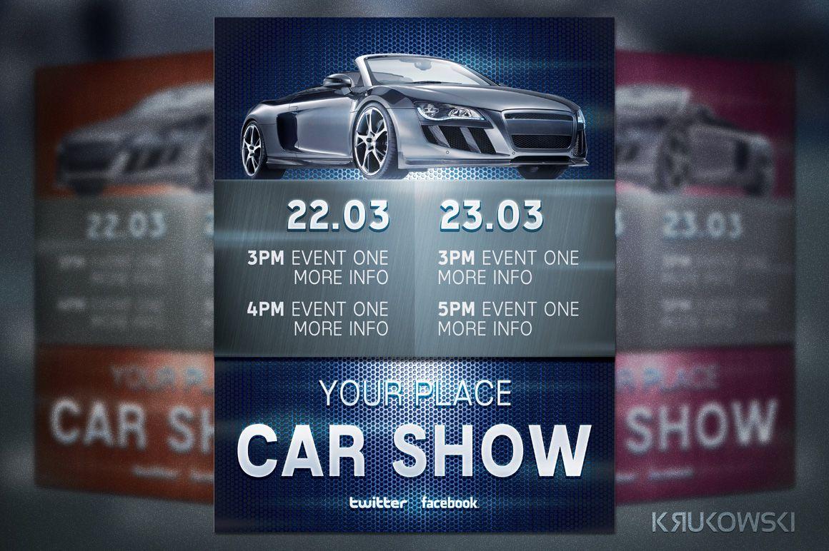 Car Show Flyer By Krukowski On Creative Market  My Style