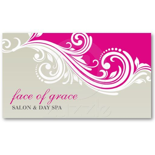 BUSINESS CARD elegant stylish swirl pink taupe...  A gorgeous swirly design which is feminine and modern.  Love these colors together
