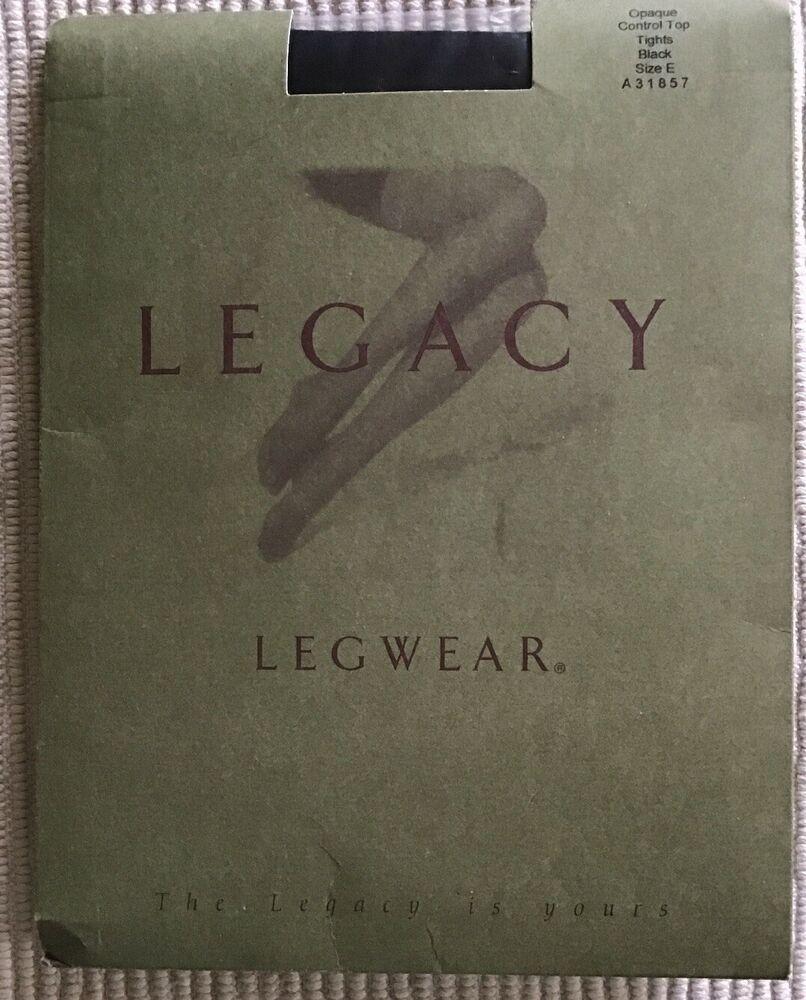 New Legacy Legwear Opaque Control Top Tights Black Qvc Sz E Plus Style A31857 Ebay Legwear