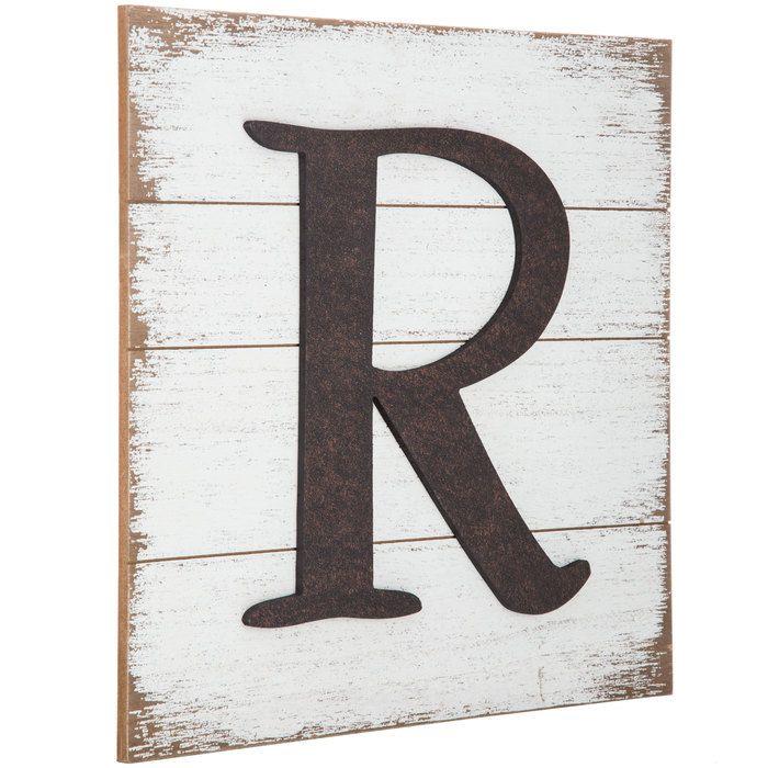 Whitewash Wood Pallet Letter Wall Decor R Letter Wall Decor