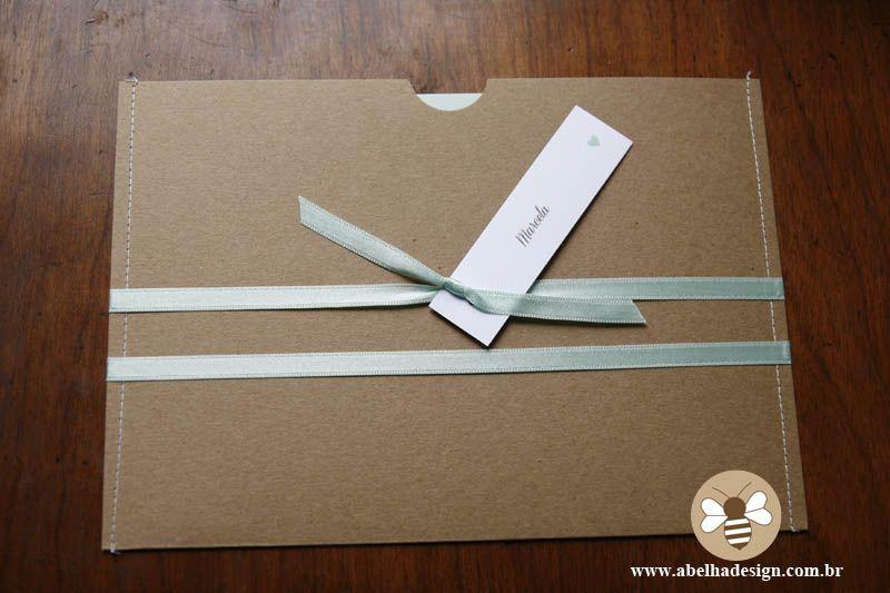envelope luva costurado