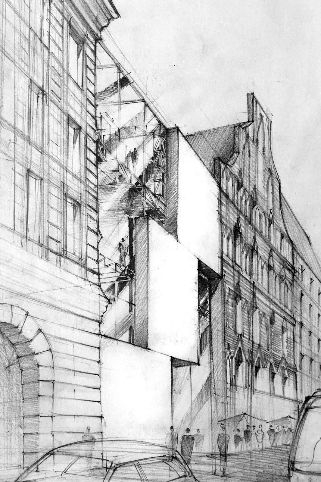 Artur Stepniak modern architecture sketches uni Pinterest