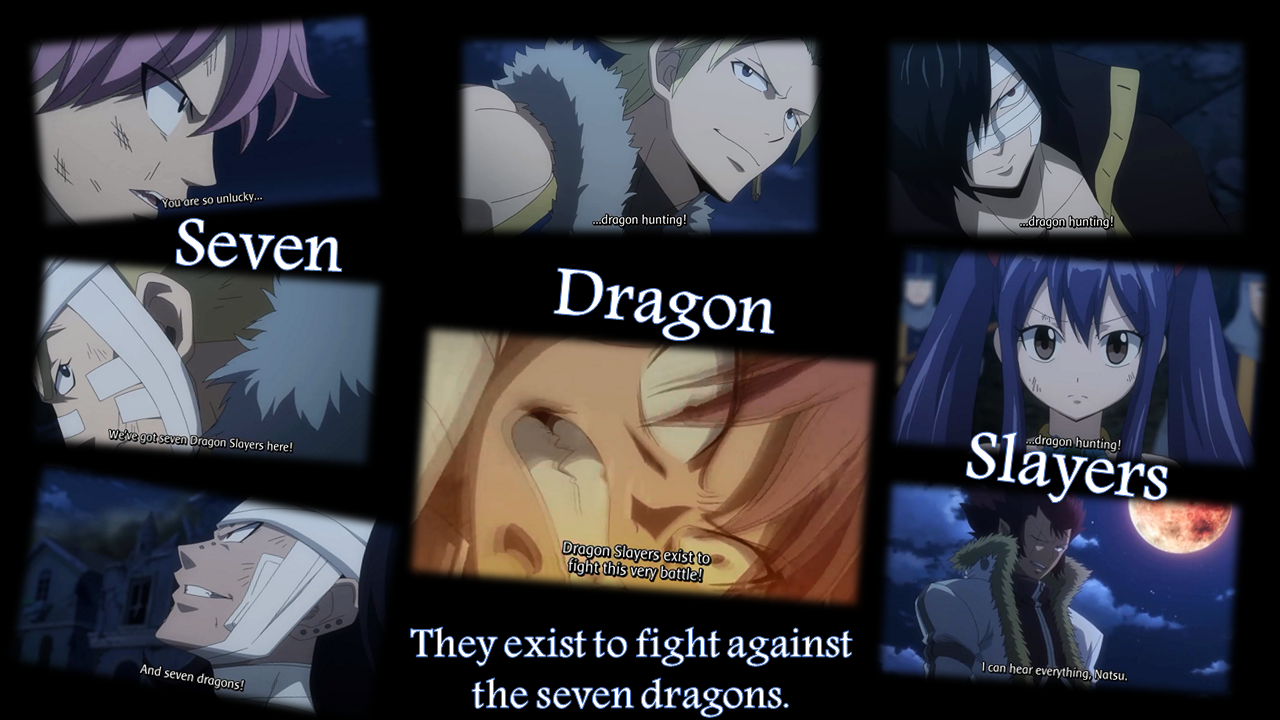 Fairy Tail 2014, episode 18, seven dragon slayers, uploaded by Stella Scarlet Segui