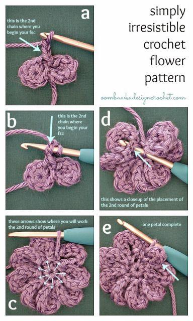 Simply Irresistible Crochet Flower - Free Crochet Pattern ...
