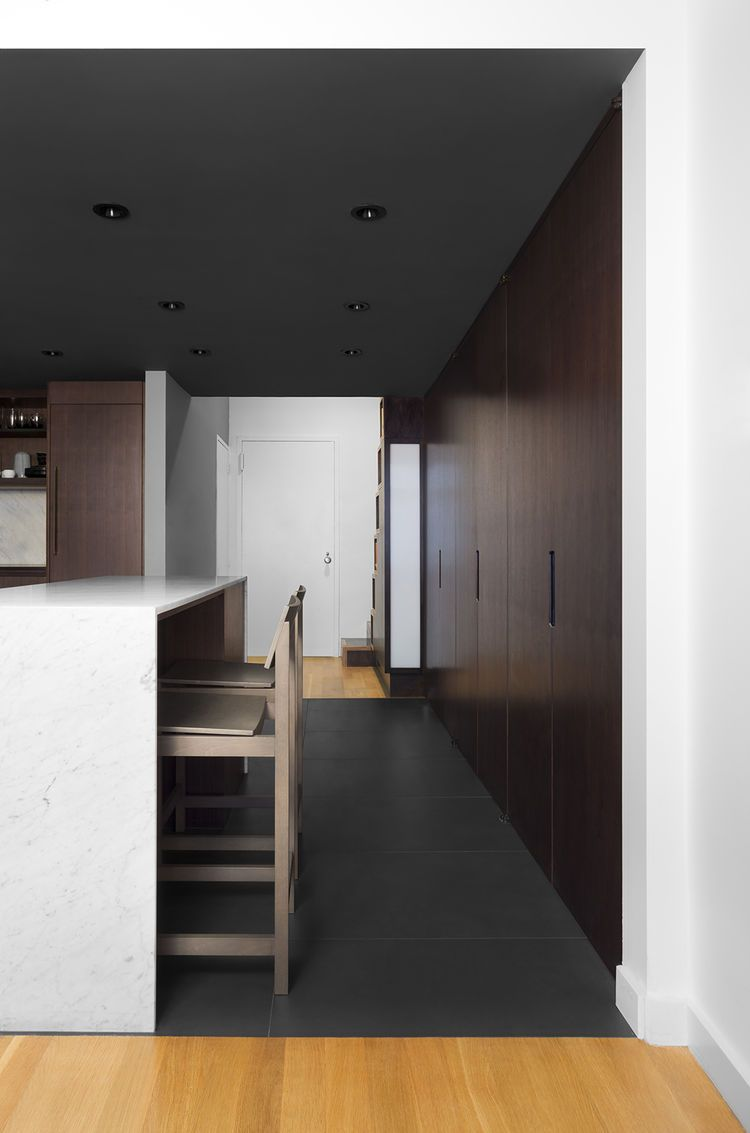 Nyc apartment with open hallway and kitchen kitchen pinterest