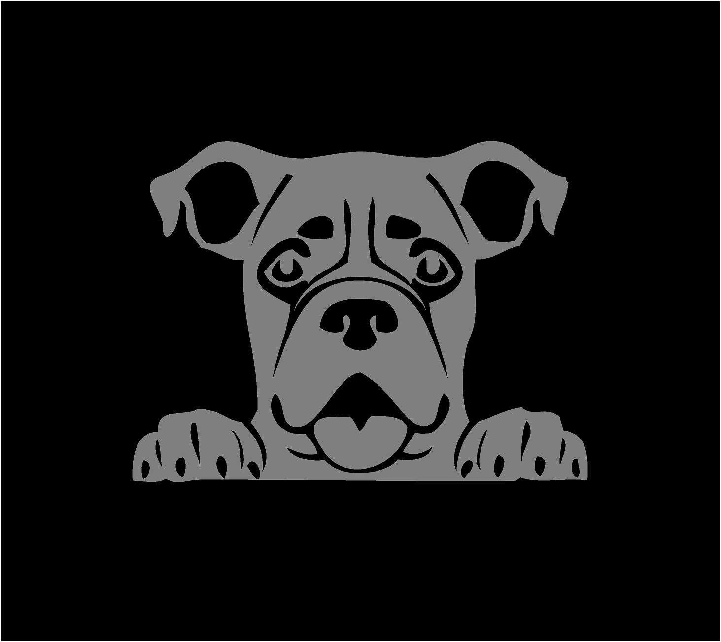 Peeking Boxer Decal Custom Vinyl Car Truck Window Dog Sticker Dog Stickers Custom Vinyl Decal Dog Breed Decal [ 1303 x 1463 Pixel ]