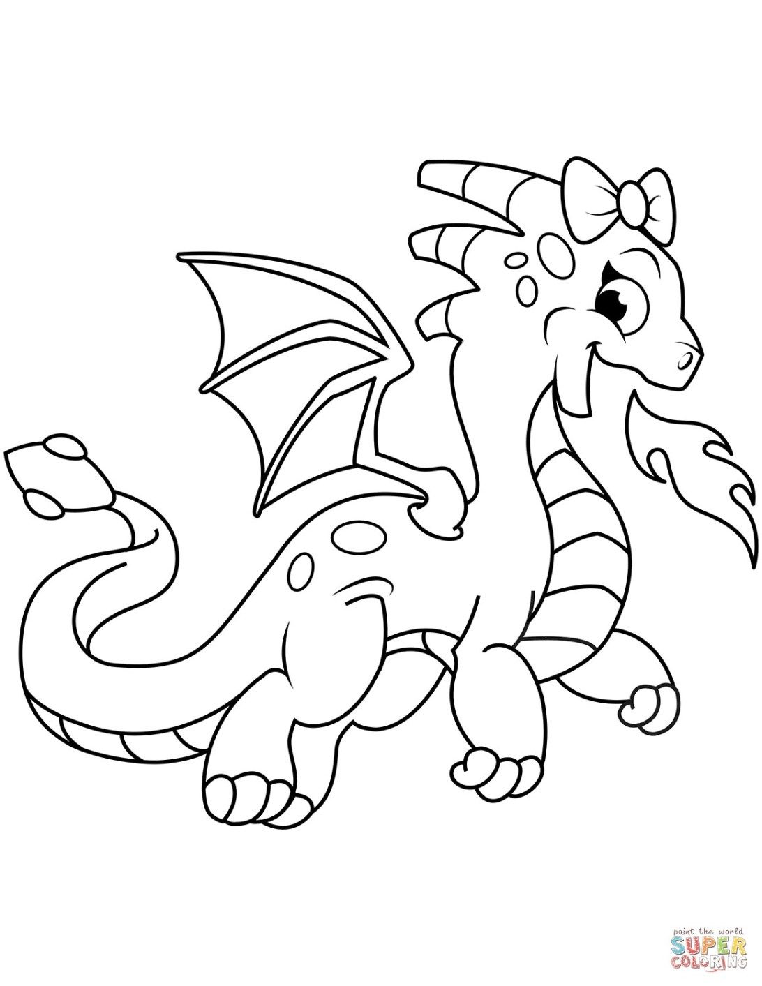 Great Image Of Free Dragon Coloring Pages Dragon Coloring Page