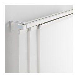 Gardinenstange Ecke vidga raumteiler ecke weiß gardinenschiene schienen und raumteiler
