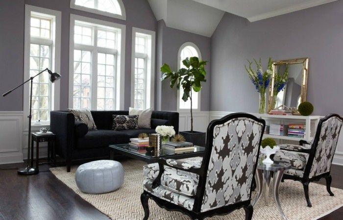 wohnzimmer grau hellgraue wände heller teppich dunkler bodenbelag - farbkombinationen wohnzimmer grau