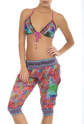 Colorful Mar de Paraiso Shorts   Aqua Azul Boutique swimwear shorts set