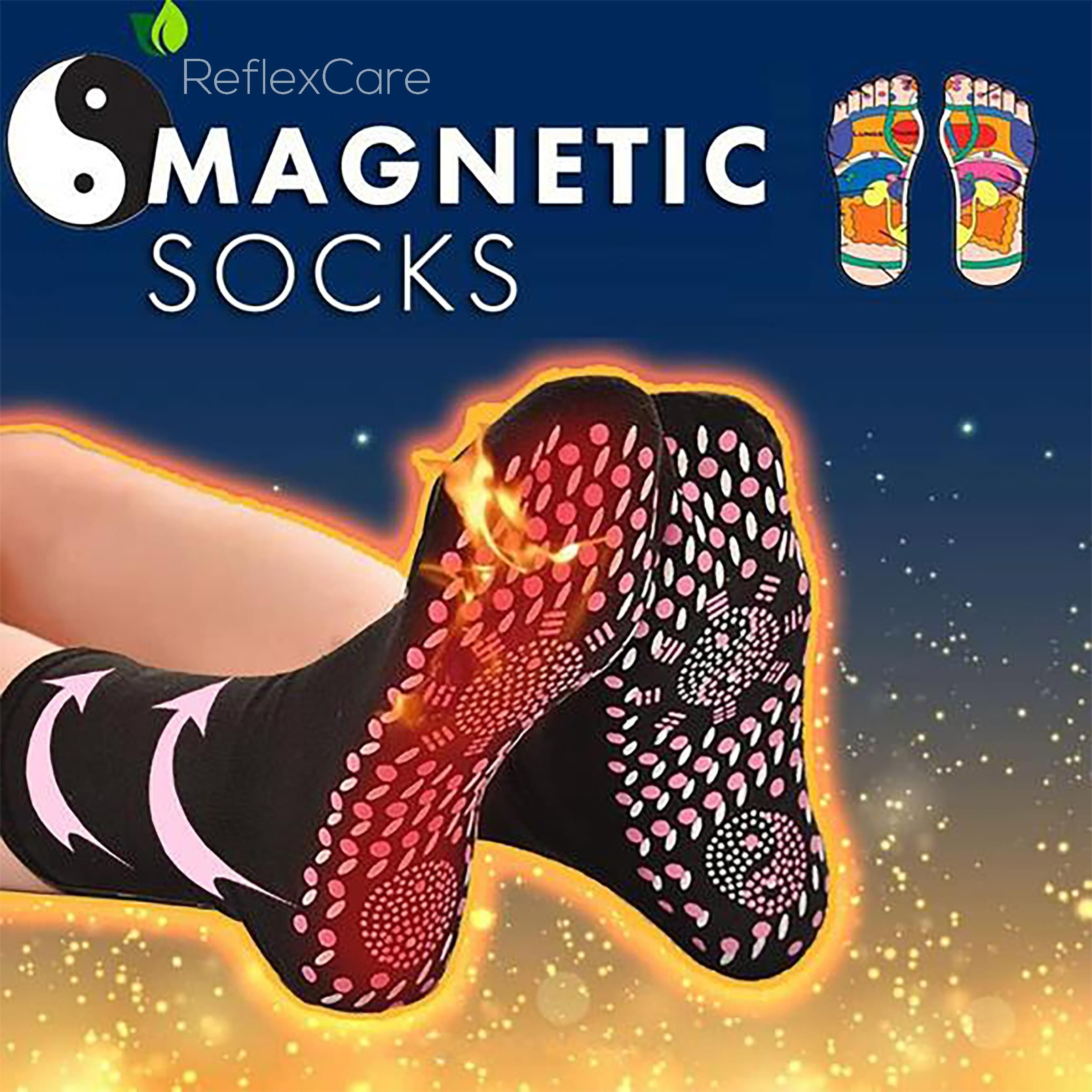 Relief Pain Cotton Magnetic Therapy Foot Care Feet Comfort Self Heating Socks