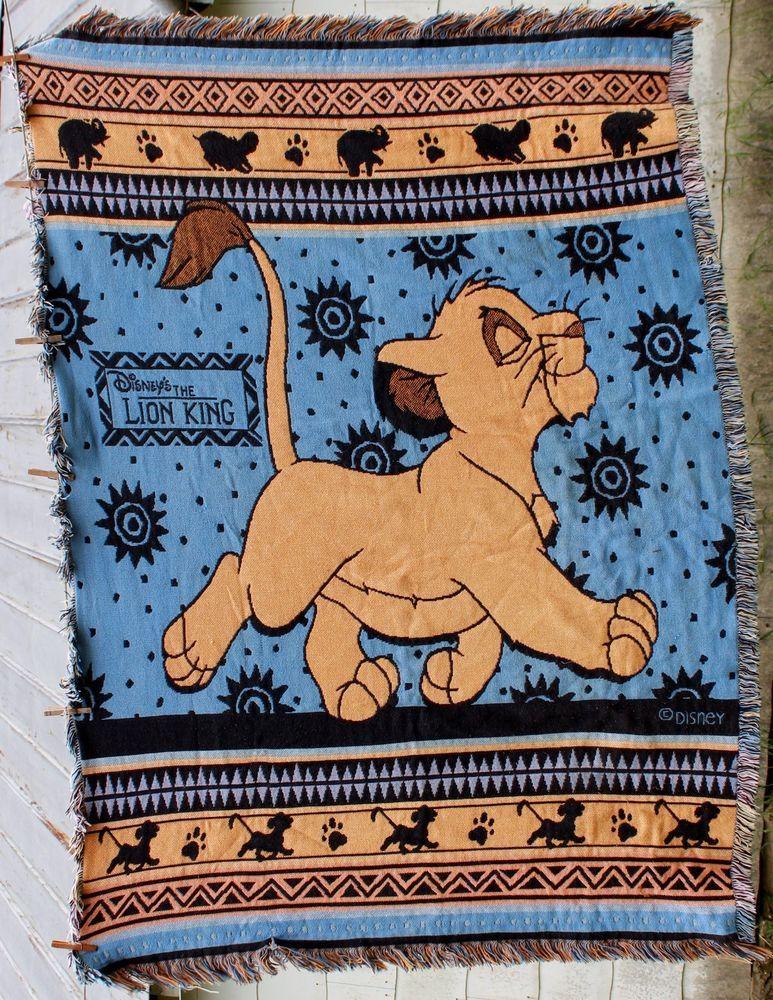 Lion King Simba Woven Tapestry Throw Blanket Blue Disney Elephant Classy Lion Blanket Or Throw