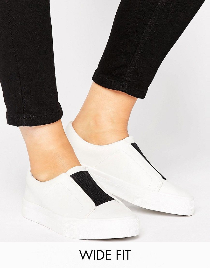 ASOS DAISY MAY Wide Fit Sip on Trainers
