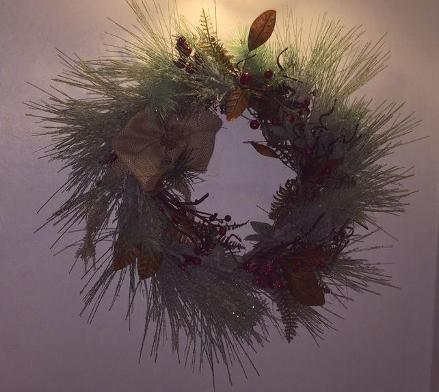 Christmas Wreaths- Rustic Winter Wreath - Luxury Door Wreath