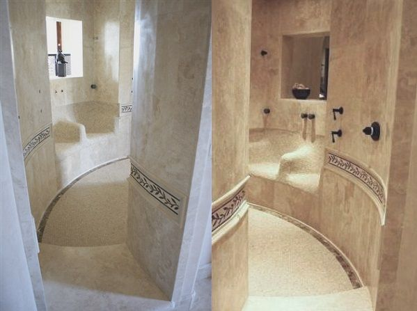 Mastery Bedroom Luxury Tile Walk Through Shower