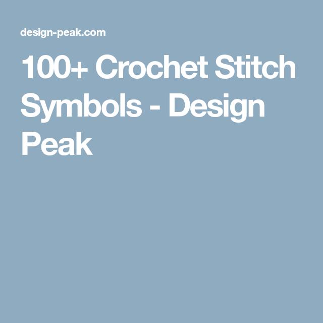 100 Crochet Stitch Symbols Crochet Stitches Symbols And Stitch
