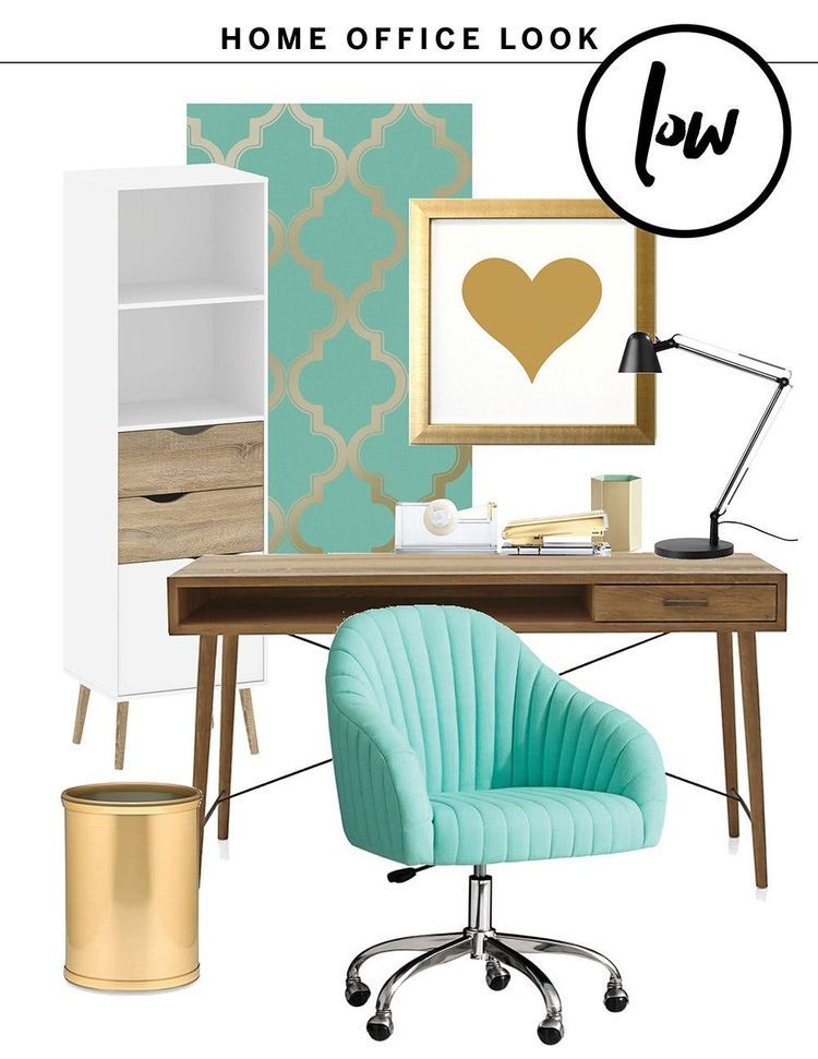 High & Low:  One Fresh Home Office Look, Two Budgets #office #officedecor #officeoutfits #officedesign #officefurniture