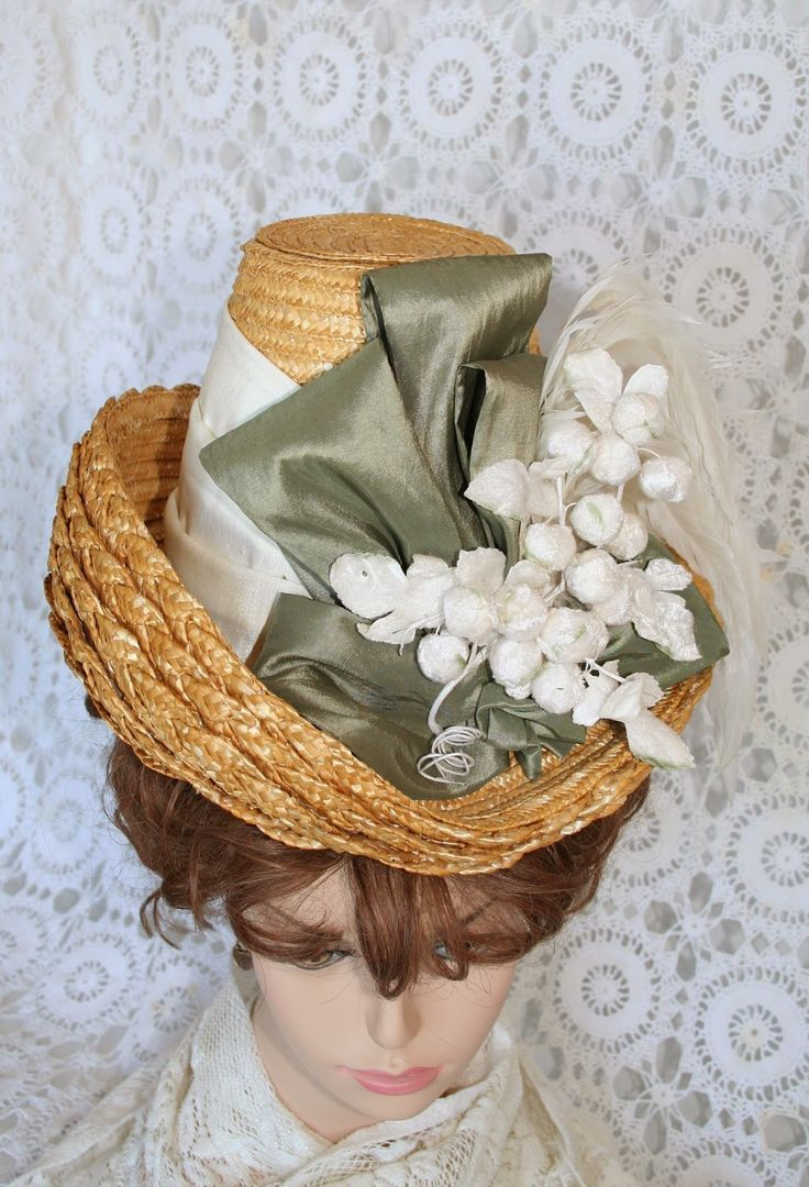 1885 Bustle Dress Flowerpot Straw Hat Lynn Mcmasters Tall Hat Pattern Victorian Hats Hat Hairstyles Hats