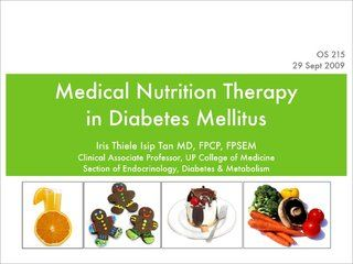 Medical Nutrition Therapy In Diabetes Nutrition Diabetes Therapy
