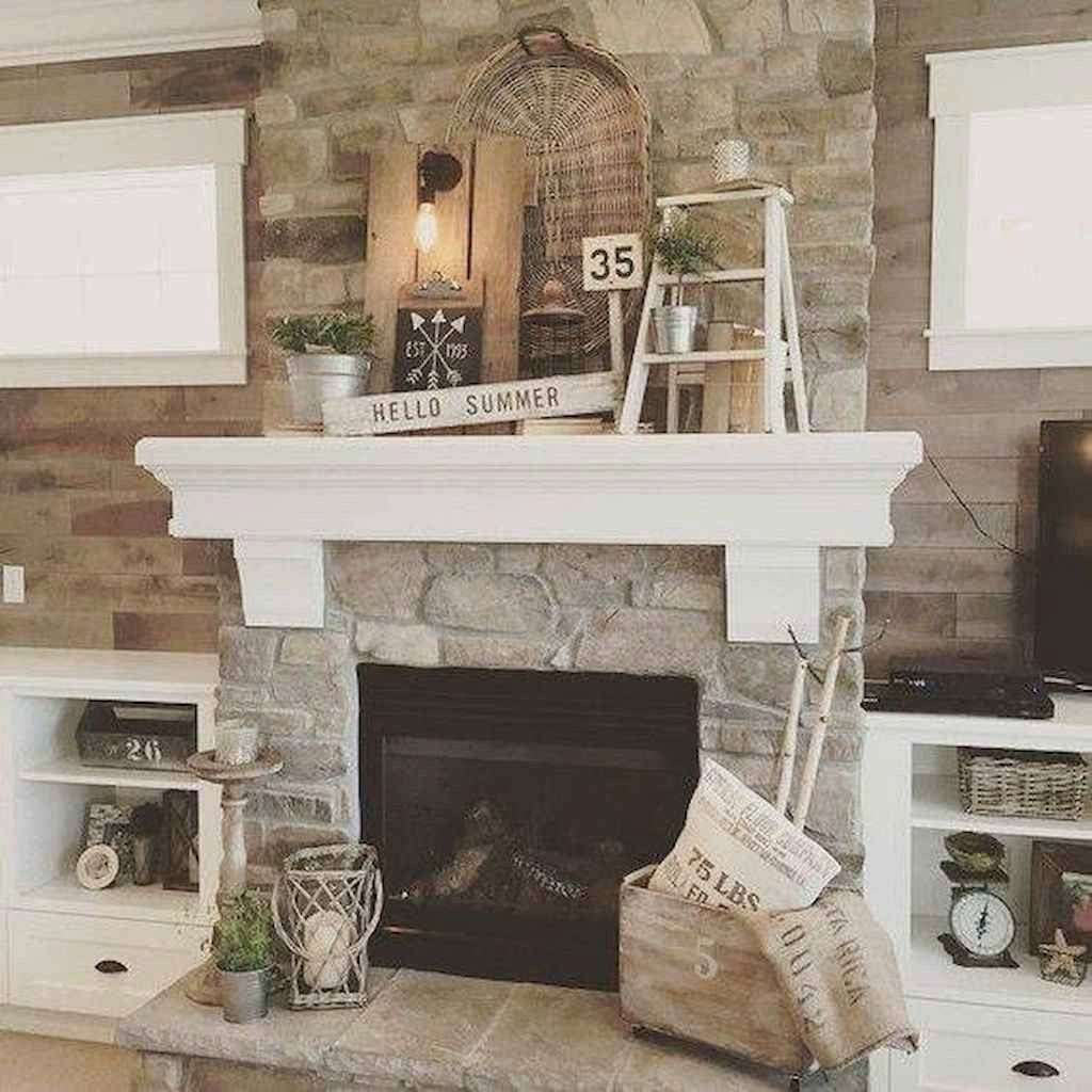 40 Awesome Farmhouse Fireplace Decor Ideas And Remodel Farmhouse