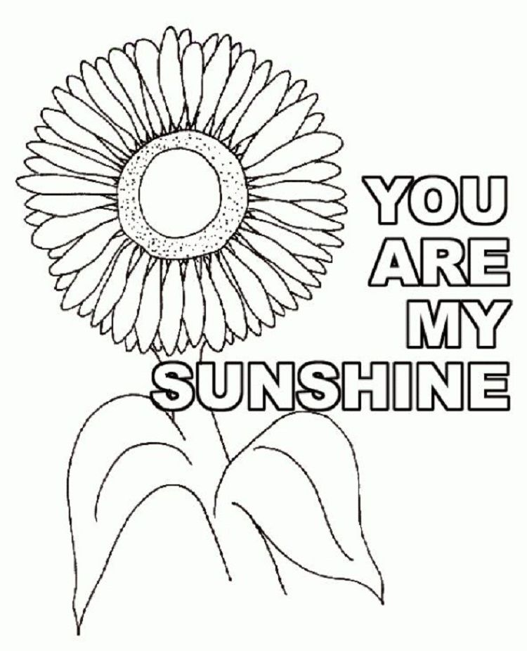 Sunflower You Are My Sunshine Coloring Pages Check more at http ...