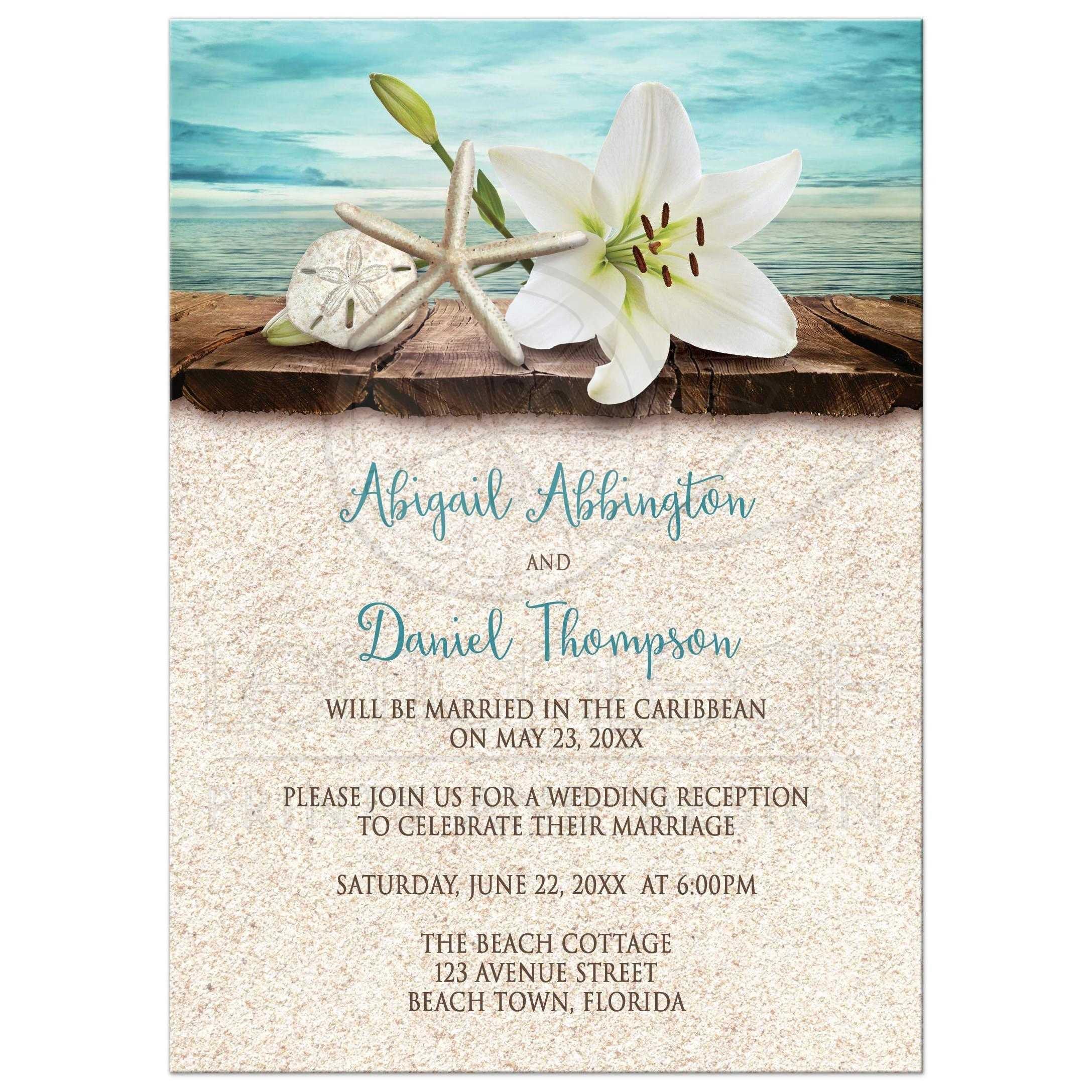 beach weddings invitations | wedding invitations | Pinterest ...