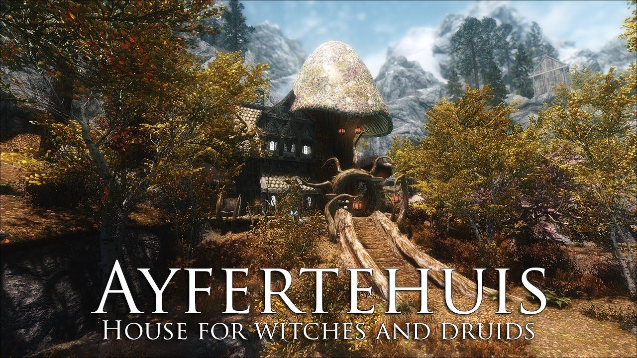 TES V - Skyrim Mods: House for witches and druids
