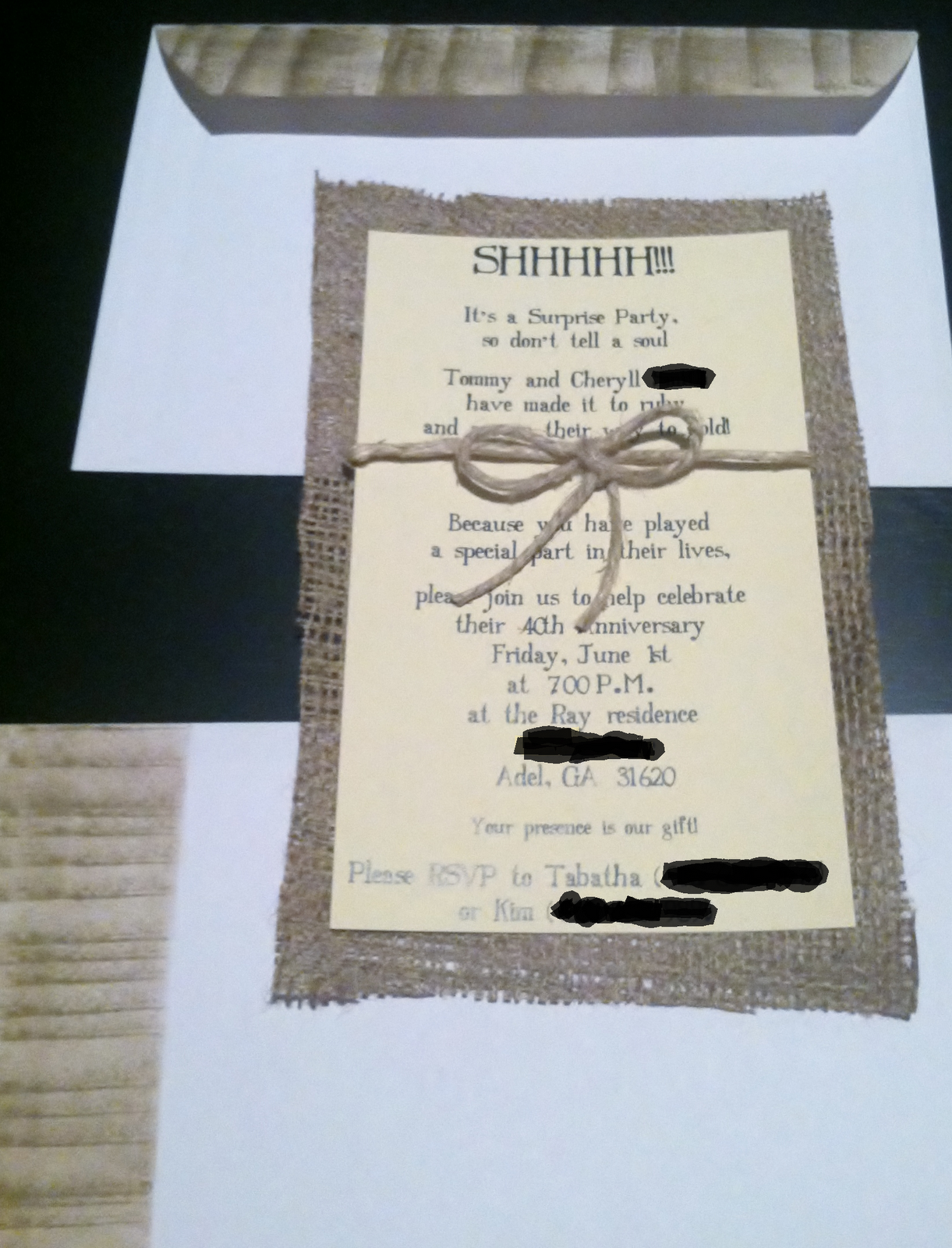Surprise - Country Themed Wedding/Anniversary Party invitations ...