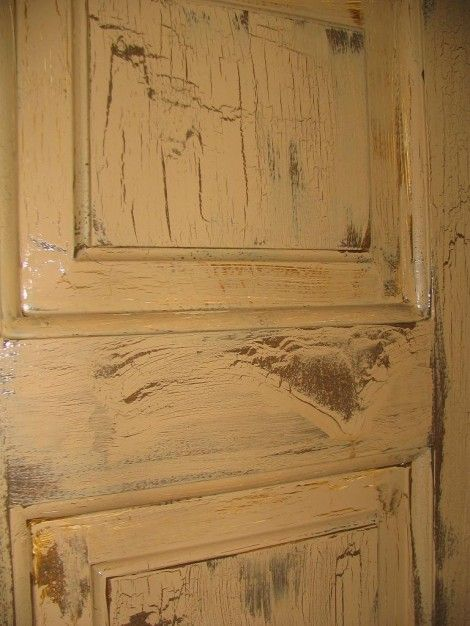 Crackle paint.. I want to do this to my cupboards ...