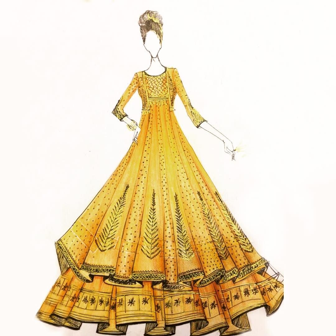 2 528 Likes 11 Comments Anju Modi Anjumodi On Instagram Kaash Fashion Illustration Sketches Dresses Fashion Drawing Dresses Illustration Fashion Design
