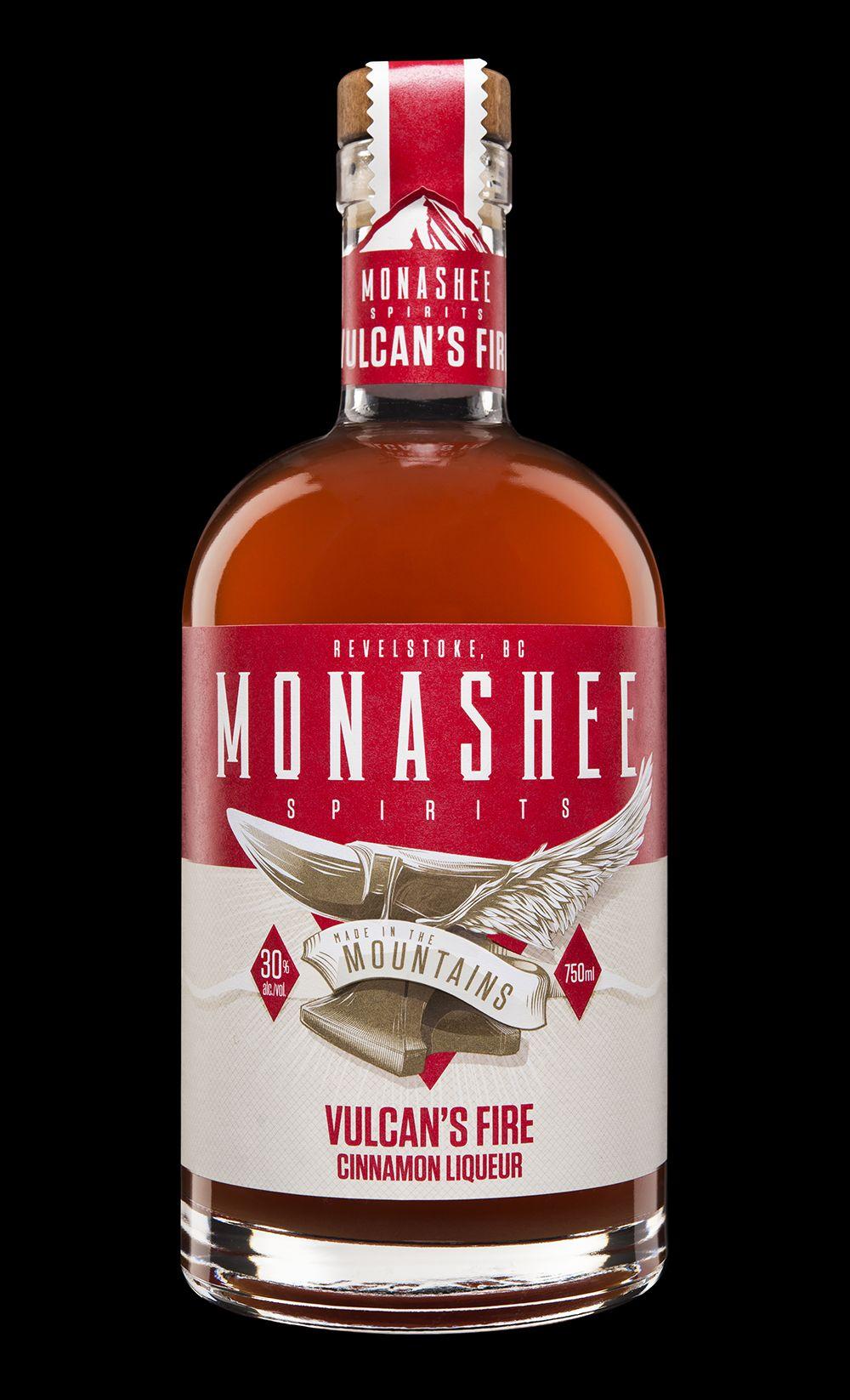 Branding Label Design For Monashee Spirits Creative Packaging Design Spirit Bottle Design