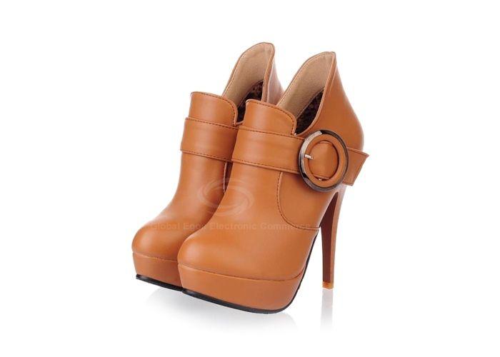Casual Laconic Women's Pumps With Solid Color Stiletto Heel Belt Platform Design (BROWN,37) China Wholesale - Sammydress.com