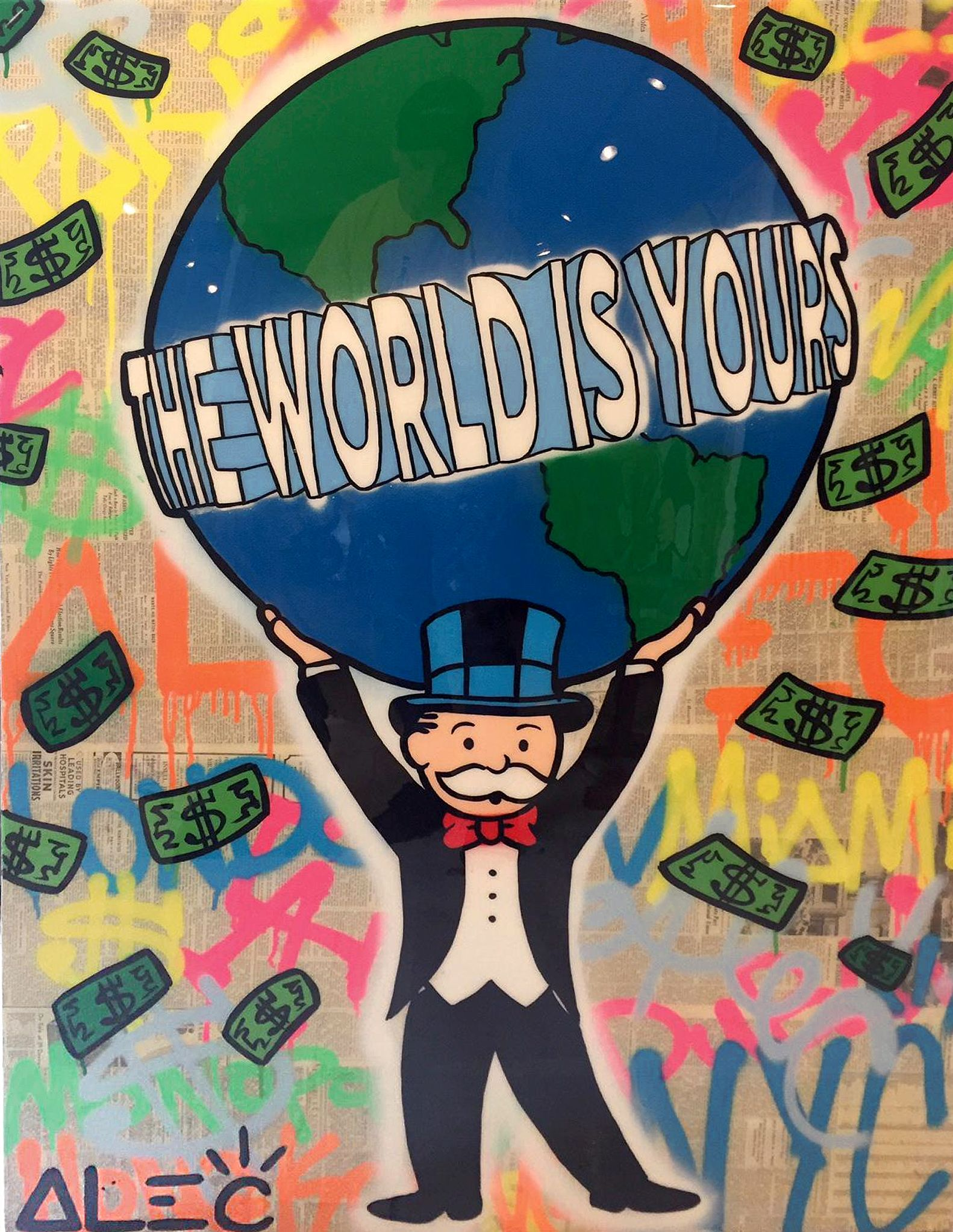 7f4ba629009 Alec Monopoly - The world is yours - Eden Fine Art Gallery