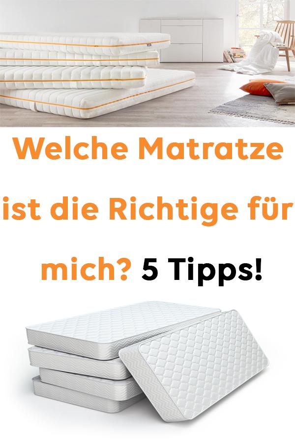 Welche Matratze Ist Die Richtige Für Mich 5 Tipps Natürliche