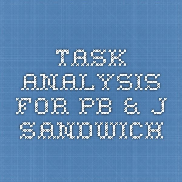 Task Analysis For Pb  J Sandwich  Asd  Functional Skills
