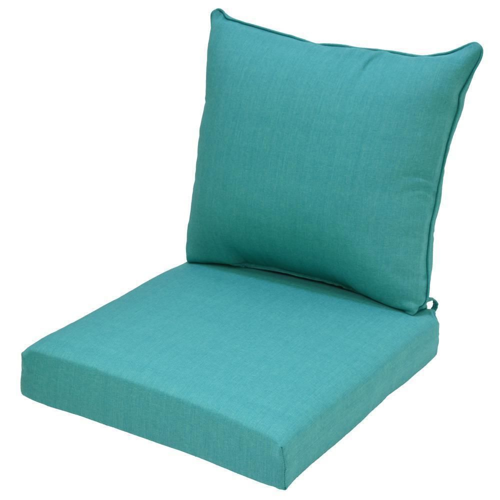 Hampton Bay Chair Cushion Seaglass Teal 2 Piece Deep Seating