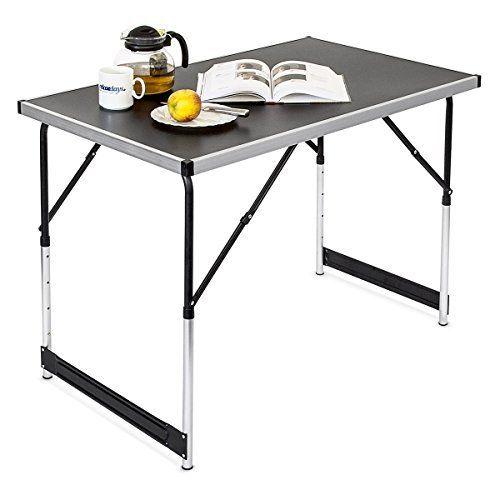 relaxdays table pliante en aluminium