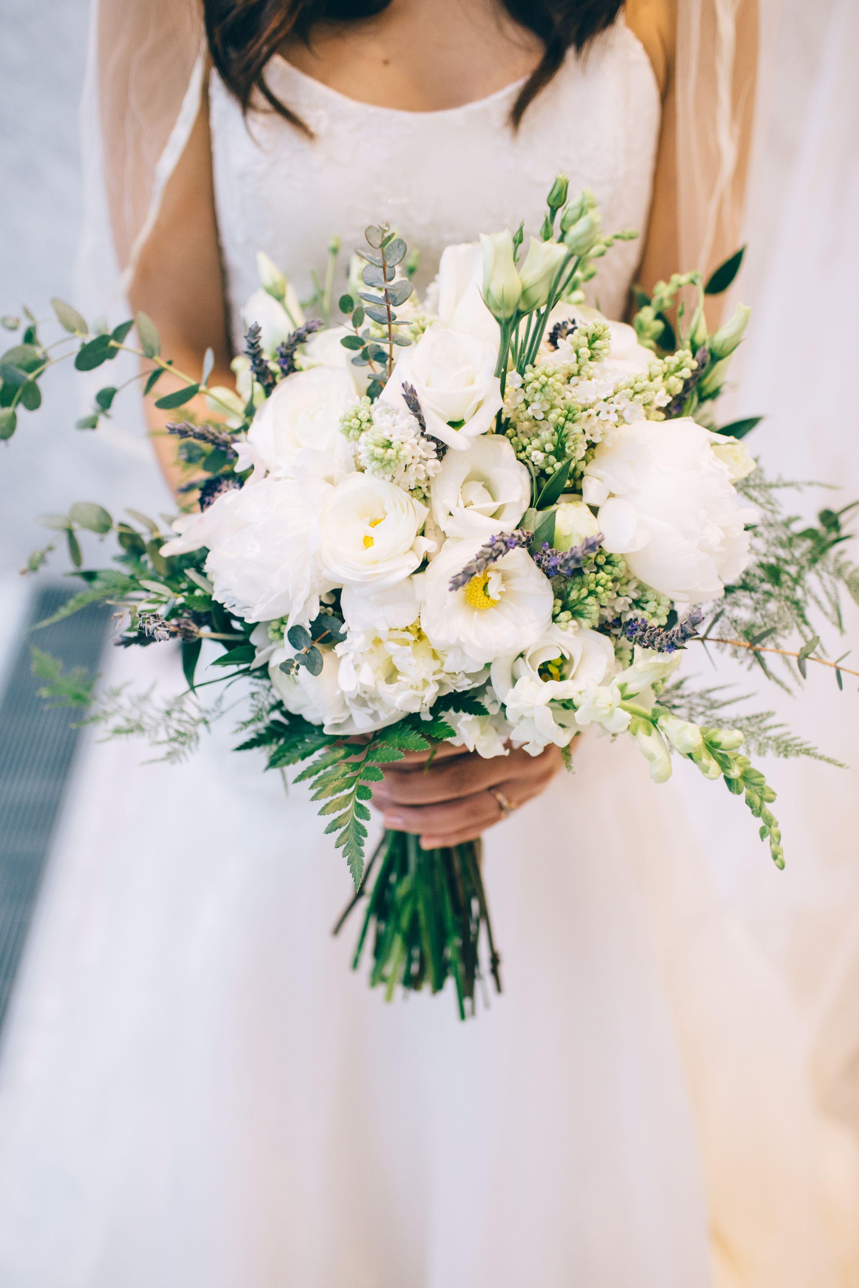 Spring Bridal Bouquet White Bridal Bouquet Peony Bouquet